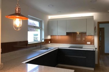 Copper splashback