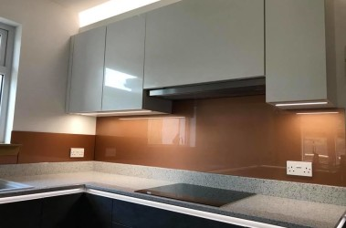 Gold splashback
